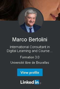Linkedin profile of marco bertolini, international consultant in digital learning and course designer